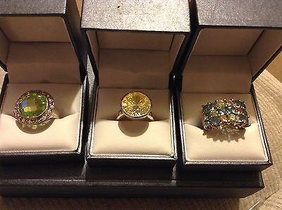 wholesale joblot 925 silver rings large stones set in 925 silver hallmarked