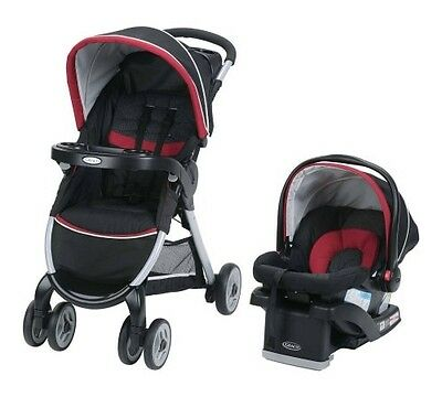 Graco FastAction Fold Click Connect Travel System, Weave ***NEW***