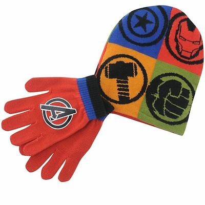 Marvel Avengers Mütze Handschuh Set Winter Kinder Neuware