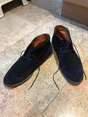Mens Massimo Dutti Blue Suede Shoes Leather Size UK 10, 44.