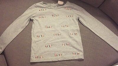 Girls Grey Next Sparkly Top Age 6 Years