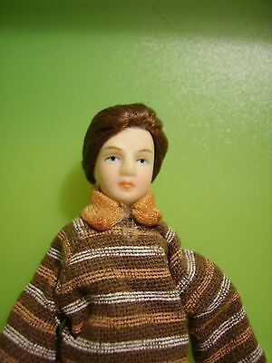 dolls house porcelain doll , young man, 12th scale
