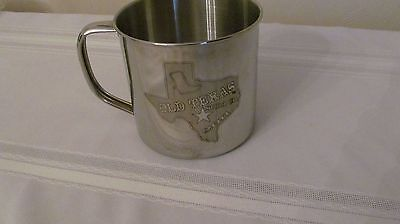 "Wow! Stainless "" Old Texas Soda Co. 2011"" Cup/mug  Free Shipping"