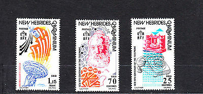 New Hebrides 1976 Telephone Centenary Set Mint Never Hinged & First Day Cover