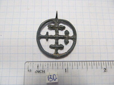 "Ancient bronze pendant ""Cross in circle"" Kievan Rus Vikings, 9-13 century №130."
