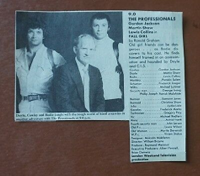 The Professionals Fall Girl TV Times Original Listing Lewis Collins Martin Shaw