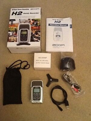 Zoom H2 Handy Recorder - Boxed with Accessories