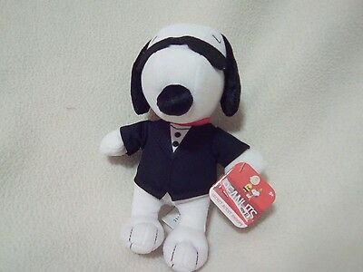 "Peanuts Secret Agent Snoopy 7.5"" Plush Snoopy~Nwt"