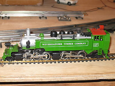 Tyco Mantua Green Articulated Logger Weyerhaeuser Timber Company Loco Ob