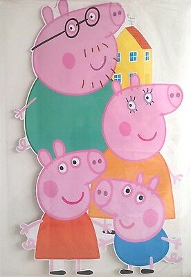 extra large peppa pig giant wall sticker decal children/kids bedroom mural