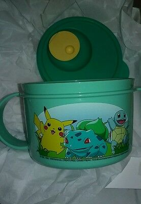 Tupperware New Pokemon Crystalwave Soup Mug 16oz