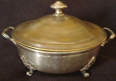 Antique French Silver Plated Christofle Tureen Bowl with Lid