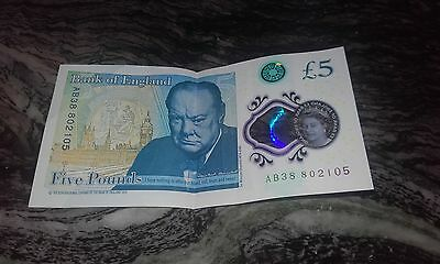 New £5 Note Number AB38 - *NEW* *RARE*