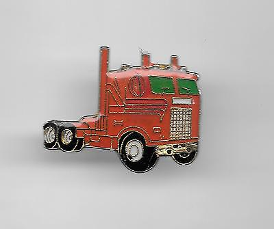 Vintage Red GMC Semi Tractor Rig old enamel pin