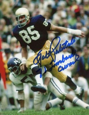 Notre Dame Fighting Irish Walt Patulski signed 8x10 W/COA pose 3