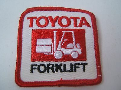"Toyota Forklift Embroidered Sew On Patch 2.5"" X 2 1/2"" Square"