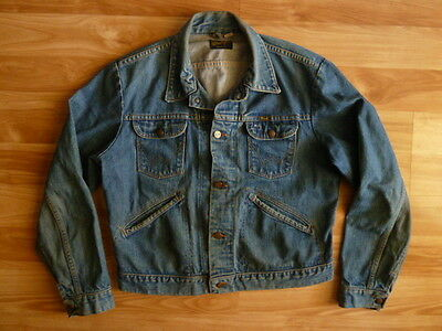 EARLY 70s VINTAGE WRANGLER 124MJ DENIM JEAN JACKET - LARGE