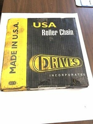 #100 Roller Chain, 10' Box, New, Domestic, Drives, USA, ANSI Standard