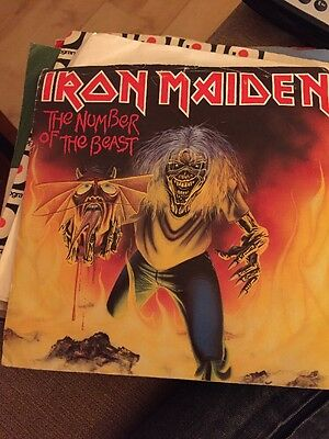 IRON MAIDEN - Number of the Beast - Red 7'' vinyl - EMI5287