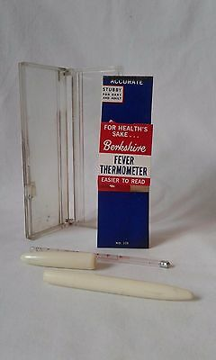 SALE! Vintage Glass Medical Oral Thermometer with Case by Berkshire NEW in BOX