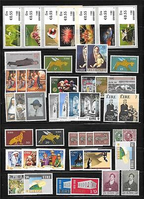 Double Sided Page Lot Early - Modern Ireland Most MNH Sets & Singles - Inspect