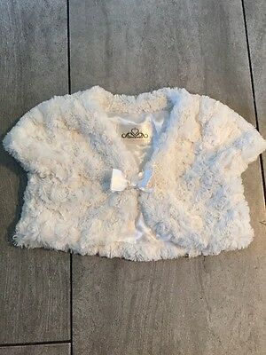 Girls Stunning Fluffy Bolero Style Top Aged 4 Years From BHS