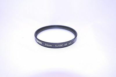 Tiffen 55 mm Close-Up +3 Screw-In Lens Made in Japan (P-168)