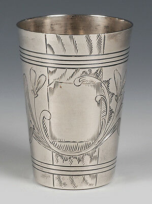 Antique Russian .84 Silver Beaker Moscow 1896-1908 Unknown Makers Mark
