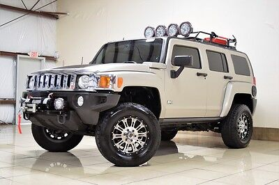 2008 Hummer H3  HARD TO FIND HUMMER H3 4X4 LIFTED WINCH TOW ROOF RACK XD SERIES WHEELS HID LIGHT