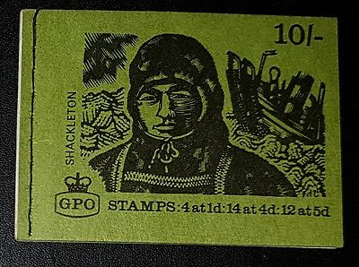 GB XP9 10/- Explorers Shackleton Stitched Stamp Booklet 08/69 (No1599)