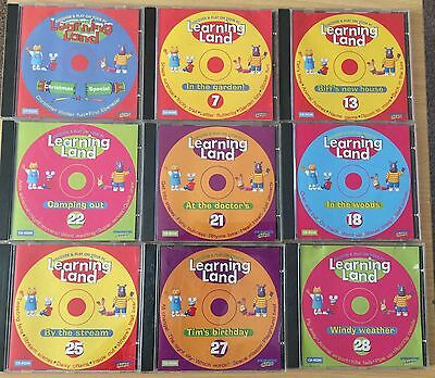 Bundle Lot:   9 Learning Land Pc Cd-Rom Mix Collections