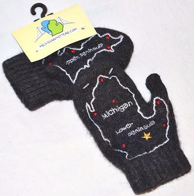 Children's Wool Michigan Mittens with Kid's Youth Map On Hand - $25 Retail