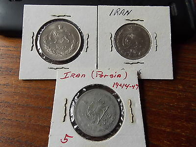 3 Iran Persia Coins 2 are Uncirculated