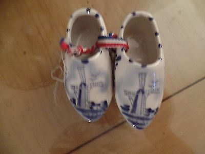Hand Painted Collectable Porcelain Little Shoes