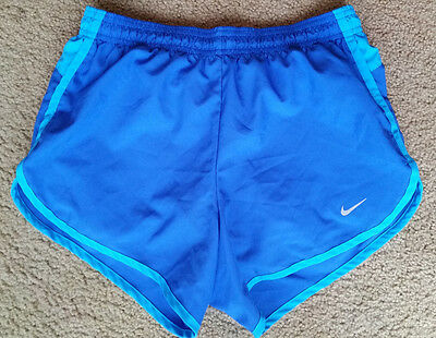 Nike Dri Fit Women's Running Athletic Workout Shorts Blue Teal Size S Small