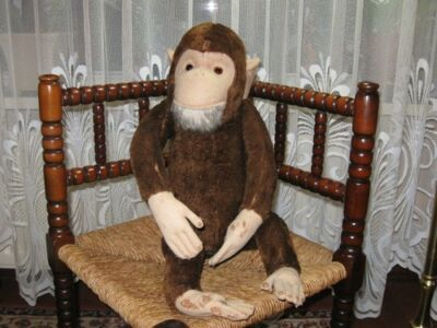 Old Antique Hermann German Monkey Mohair Fully Jointed 62 CM - Over 2 ft Tall