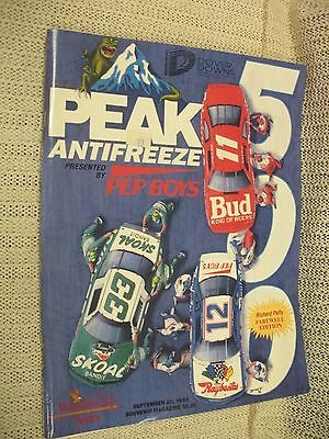 """Dover Int. Speedway Sept. 1992 Program-Petty Farewell Edition"""""""