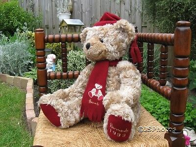 Harrods Large Foot Dated Christmas Bear 1999 13 Inch