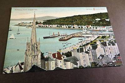 ROTHESAY c1905 View from Chapel Hill & Paddle Steamer