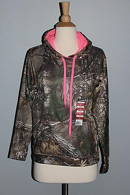 74dd44a036b4 NEW Realtree Camo   Pink Hoodie Ladies Hooded Sweatshirt Sizes S M L XL  Hunting