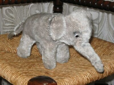Old Antique Hermann Germany Mohair Elephant 24 cm NO ID