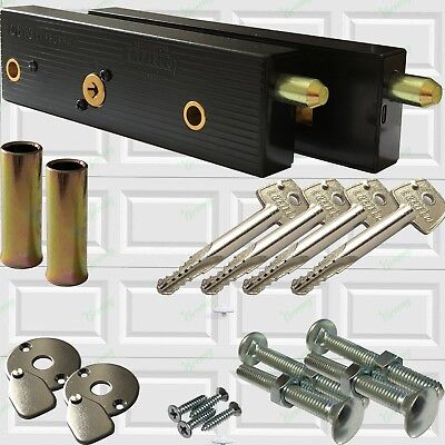Enfield Genuine Garage Door Bolts Lock Up And Over One Pair 2019 NOW With 4 Keys