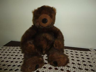 Russ Berrie Teddy Bear TIMBER Grizzly Faux Mink Plush 15 inch Amrams Canada