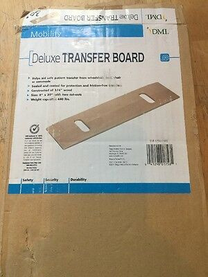 """Deluxe Transfer Board - DMI - 8"""" x 30"""" Two Cut Outs - 3/4"""" Hardwood During Med"""