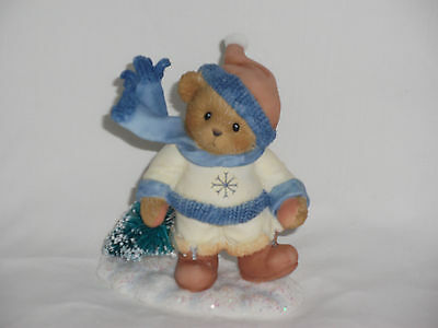 Cherished Teddies Figurine DUSTIN May Your Christmas Be Ever Green NIB + Papers