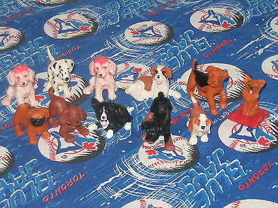 1995 Puppy in My Pocket- Set of 11 Rubber Dogs