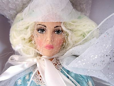 "ICE PRINCESS by Karen Scott 18"" FROZEN Porcelain Doll New n Box Posable COA MINT"