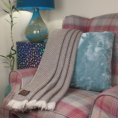 New Pure Cashmere Travel Throws Blankets Hand Knitted In Nepal