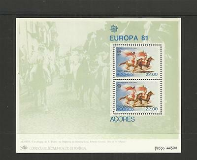 Azores Portugal ~ 1981  1982 1988  ~ Europa Mini Sheets (Mint Mnh)