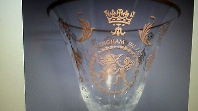 Bnib New Collectable Buckingham Palace Wine Glass Champagne Flute